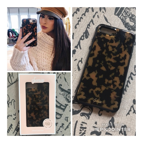 new concept ff6bf cd14d NEW Sonix Tortoise Print iPhone 6/6s/7/8 Plus Case NWT